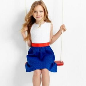 Brooks Brothers Girls Color Block Back to School Dress Size 8 Nwot