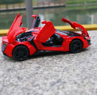 Lykan Hypersport Model Cars 1:32 Toys Sound & Light Alloy Diecast Gifts New  Red