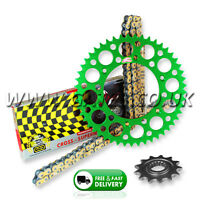Kawasaki KX125 1994-2008 Regina RX3 PRO Chain And Green Renthal Sprocket Kit