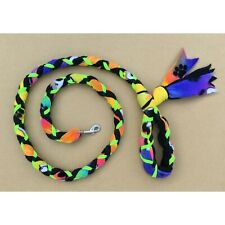 New listing Handmade Dog Leash Fleece and Paracord with Clasp Puppy-Yellow ov Black w Green