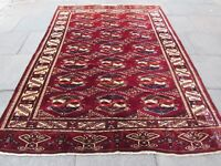 Vintage Hand Made Traditional  Rugs Oriental Rug Wool Red Carpet 283x202cm