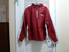 HOLLOWAY Red & White,  Nylon Shell,  Lined Hooded Windbreaker - Large