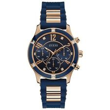 Guess Breeze Quartz Diamond Blue Dial Ladies Watch W1234L4