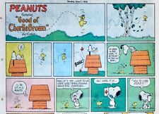 Peanuts by Charles Schulz - large half-page color Sunday comic - June 7, 1970