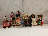 Vintage Large Lot Of Dolls From Around The World Latin Swiss British African