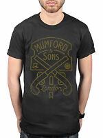 Official Mumford and Sons Pistol Label T-Shirt Marcus Mumford Wilder Mind Believ