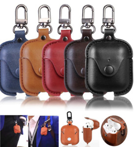 Luxury Leather Charging Case For Apple AirPods 2 1 Wireless Airpod Cover Skin