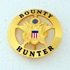BOUNTY HUNTER  Badge GOLD PLATING  ROUND STAR 2 1/4 inch Replica
