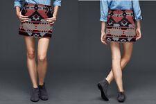Gap Wool Blend Southwestern Print Mini Skirt Sz 4 NWT