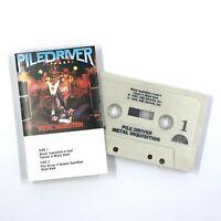 PILEDRIVER Metal Inquisition Cassette Tape 1985 Thrash Metal Rare