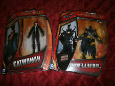DC COMICS MULTIVERSE BATMAN ARKHAM ORIGINS SET OF 2 KNIGHTFALL BATMAN & CATWOMAN