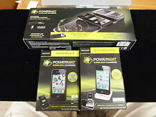 POWERMAT WIRELESS CHARGING MAT WITH CASE FOR IPHONE 4 PLUS DOCK FOR IPODS AND IP
