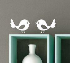 2 x Small Cute Bird Silhouette Wall Stickers Birds Car Decals