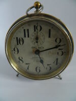 1908 - 1918 Westclox Big Ben Style 1 Alarm Clock with Dealer Imprint - Working