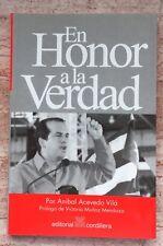 Anibal Acevedo Vila En Honor A La Verdad Ensayos Puerto Rico 1st Edition 2000