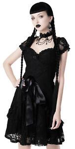 Killstar Hocus Pocus Party Dress Black Lace Lolita Goth Size Small NWT