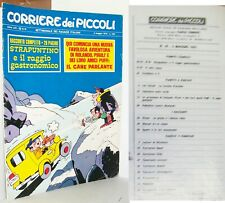 CORRIERE DEI PICCOLI N. 18 - 3 MAGGIO 1970 Strapuntino e il raggio gastronomico