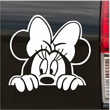 Minnie Mouse Style WHITE  Car Window Sticker Graphic Vinyl Decal easy apply diy