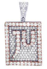 Mens 10K Gold Two Tone Real Diamond JU Jewelry Unlimited Signature Pendant 3.5CT