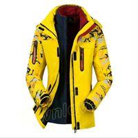 Womens Camo Outdoor Hooded Warm Fleece Jackets Climb Sports Waterproof Ski Coats
