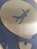 Latte Art / Kuchen Schablone Edelstahl Flugzeug NEU Made in Germany