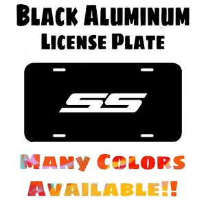Fits Camaro SS Black Aluminum License Plate (Different Colors Available