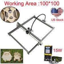 100*100 Laser Router Kit &15W Laser Module CNC Carving Engraver DIY MINI Machine