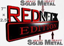 SOLID METAL Redneck Edition BEAUTIFUL EMBLEM Ford Door Tailgate Sign Lid Logo