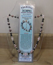 "SCORPIO  Hand-made 18"" Astrolgical Gemstone Necklace Plus FREE book and BOOKMARK"