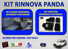 Tappetini con Fodere Coprisedili per Fiat Panda Young foderine auto set kit grip