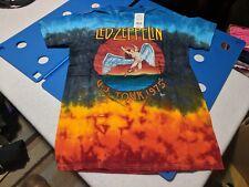 A1 Led Zeppelin Icarus Colorful Tie Dye U.S. Tour 1975 Mens Vintage T-Shirt L