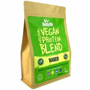 BodyMe Organic Vegan Protein Powder Blend   NAKED NATURAL   1Kg 3 Plant Proteins