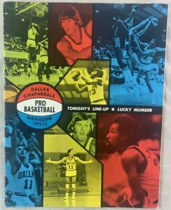 1972-1973 Dallas Chaparrals (San Antonio Spurs) ABA Basketball Program