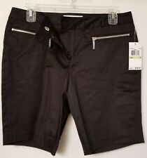 NWT Michael Kors Shorts Black Sz 4, zippered pockets
