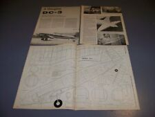 VINTAGE..DOUGLAS DC-3....45 ENGINES R-C PLANS..RARE! (919R)