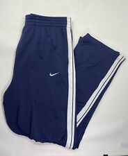 Nike Big Tall Long Track Sweat Pants Basketball Size L Gym Drawstring Blue