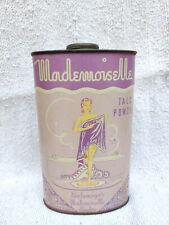 1920 Vintage Rare Advertising Balenciaga Mademoiselle Talc Powder Sealed Tin Box