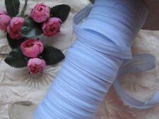 VINTAGE / ANTIQUE FRENCH TINY DOLL SIZE LIGHT BLUE RAYON RIBBON 4 YARDS