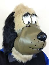 Cartoon Dog Mask Mutley Style Latex Fur Movie Quality Fancy Dress Stag Party