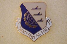 US USA USAF 21st Air Force Military Hat Lapel Pin