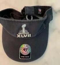 NWT Super Bowl XLVII '47 Brand Navy Visor With Lombardi Trophy
