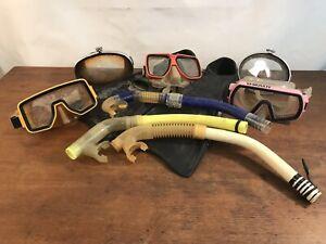 Vintage Scuba and Snorkeling Gear Lot Nemrod Squale US Divers, Voit (#A1)