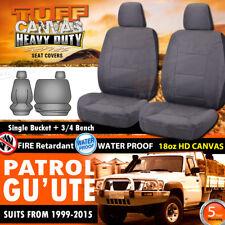TUFF HD CANVAS Nissan Patrol GU Single CAB Custom Made Seat Covers 5/1999-15 Y61