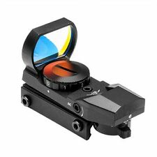 RED DOT REFLEX SIGHT /4 DIFFERENT RETICLES/WEAVER BASE/BLACK