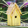 "BIRDHOUSES - ""BRIGHTON BUNGELOW"" WOODEN BIRDHOUSE - YELLOW - GARDEN DECOR"