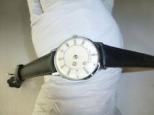 Vintage Swiss 17Jewel Windup LOUVIC Mystery Dial Diamond De Luxe 36mm Mens Watch