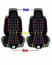Zento Deals 2X Black Car Seat Cushion Automotive Cooling Heated Warm Massage Pad