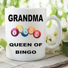 Funny Novelty Mugs Joke Adult Humour Grandma Queen Bingo Mothers Day WSDMUG608