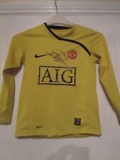 Manchester United 2009-2010 firmado van der Sar Camiseta de fútbol & cert. de autenticidad/43310