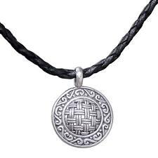 Silver Pendant Necklace 925 Black Leather Cord 'New Classic' NOVICA Bali